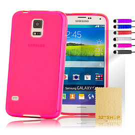Samsung Galaxy S5 Mini Crystal Gel case - Hot Pink Mobile phones