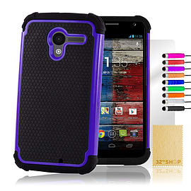 Motorola Moto X Dual layer shockproof case - Deep Blue Mobile phones