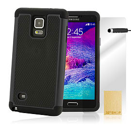 Samsung Galaxy Note 4 Dual Layer shockproof case - Black Mobile phones