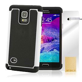 Samsung Galaxy Note 4 Dual Layer shockproof case - White Mobile phones