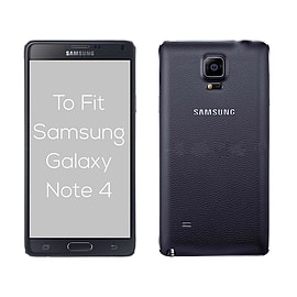 Samsung Galaxy Note 4 Stylish PU leather flip case - Black Mobile phones