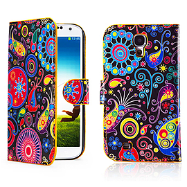 Samsung Galaxy S4 PU leather design book case - Jellyfish Mobile phones