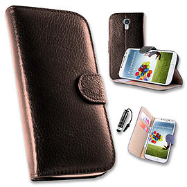 Samsung Galaxy S4 Genuine premium leather wallet book case - Brown Mobile phones