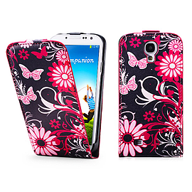 Samsung Galaxy S4 PU Leather design Flip case - Gerbera Mobile phones