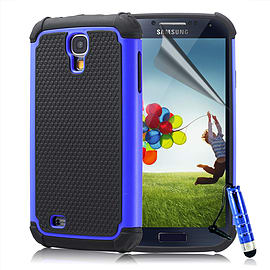 Samsung Galaxy S4 Dual-layer shockproof case - Deep Blue Mobile phones
