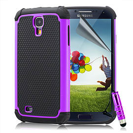 Samsung Galaxy S4 Dual-layer shockproof case - Purple Mobile phones