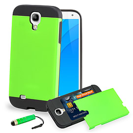 Samsung Galaxy S4 Smooth-shock Dual layer shockproof case case - Green Mobile phones