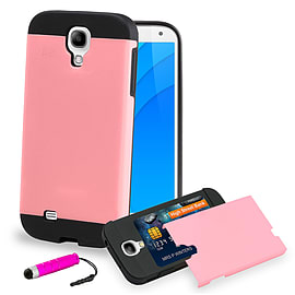 Samsung Galaxy S4 Smooth-shock Dual layer shockproof case case - Hot Pink Mobile phones