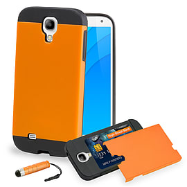 Samsung Galaxy S4 Smooth-shock Dual layer shockproof case case - Orange Mobile phones