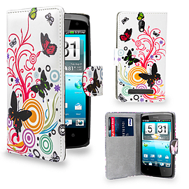 HTC Desire 510 PU leather design book case - Colour Butterfly Mobile phones