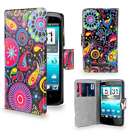 HTC Desire 510 PU leather design book case - Jellyfish Mobile phones