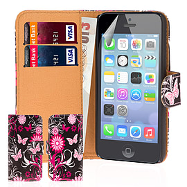 iPhone 5C PU leather design book case - Gerbera Mobile phones