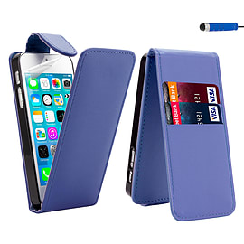 iPhone 5C Stylish PU leather flip case - Deep Blue Mobile phones