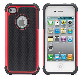 iPhone 5C Dual Layer shockproof case - Red Mobile phones
