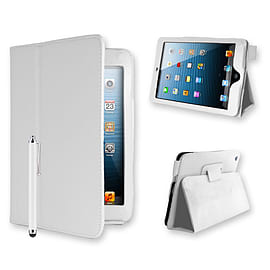 iPad 2/3/4 PU leather book case - White Tablet