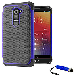 LG G2 Dual-layer shockproof case - Deep Blue Mobile phones