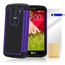 LG G2 Mini Dual-layer shockproof case - Deep Blue Mobile phones