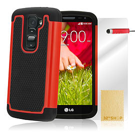 LG G2 Mini Dual-layer shockproof case - Red Mobile phones
