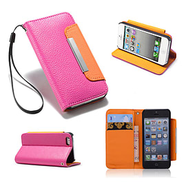 Samsung Galaxy S3 PU leather Stand book case - Hot Pink Mobile phones