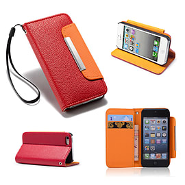 Samsung Galaxy S3 PU leather Stand book case - Red Mobile phones
