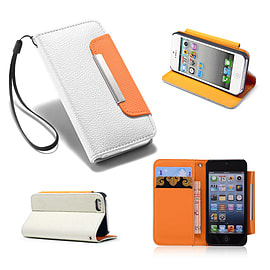 Samsung Galaxy S3 PU leather Stand book case - White Mobile phones