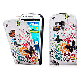 Samsung Galaxy S3 Mini PU leather design flip case - Colour Butterfly Mobile phones