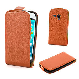 Samsung Galaxy S3 Genuine premium leather flip case - Light Brown Mobile phones