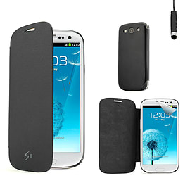 Samsung Galaxy S3 Slim-flip replacement battery cover case - Black Mobile phones