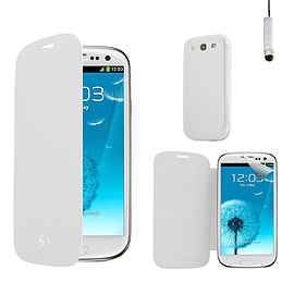 Samsung Galaxy S3 Slim-flip replacement battery cover case - White Mobile phones