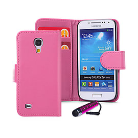 Samsung Galaxy S4 Stylish PU leather wallet case - Hot Pink Mobile phones