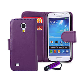 Samsung Galaxy S4 Stylish PU leather wallet case - Purple Mobile phones