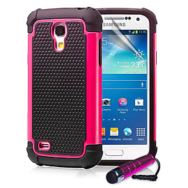 Samsung Galaxy S4 Dual-layer shockproof case - Hot Pink Mobile phones