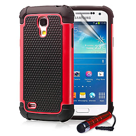 Samsung Galaxy S4 Dual-layer shockproof case - Red Mobile phones