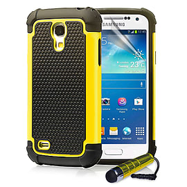 Samsung Galaxy S4 Dual-layer shockproof case - Yellow Mobile phones