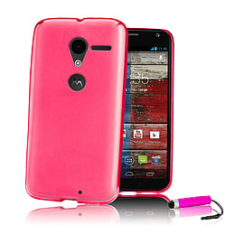 Motorola Moto E Crystal gel case - Hot Pink Mobile phones