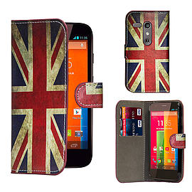 Motorola Moto G (2013) PU leather design book case - Union Jack Mobile phones