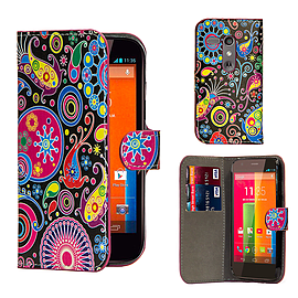 Motorola Moto G (2014) PU leather design book case - Jellyfish Mobile phones