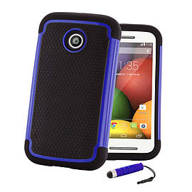 Motorola Moto G (2014) Dual-layer shockproof case - Deep Blue Mobile phones