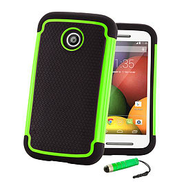 Motorola Moto G (2014) Dual-layer shockproof case - Green Mobile phones
