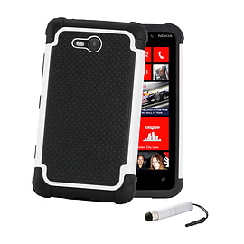 Nokia Lumia 530 Dual-layer shockproof case - White Mobile phones