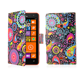 Nokia Lumia 620 PU leather design book case - Jellyfish Mobile phones