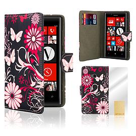 Nokia Lumia 720 PU leather design book case - Gerbera Mobile phones