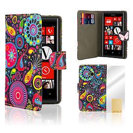 Nokia Lumia 720 PU leather design book case - Jellyfish Mobile phones