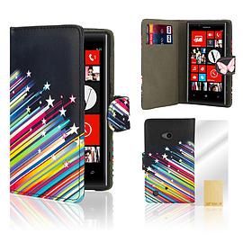 Nokia Lumia 720 PU leather design book case - Shooting Stars Mobile phones