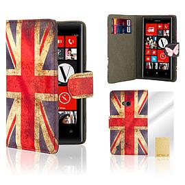 Nokia Lumia 720 PU leather design book case - Union Jack Mobile phones