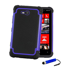 Nokia Lumia 730 Dual-layer shockproof case - Deep Blue Mobile phones