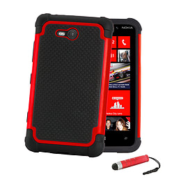 Nokia Lumia 730 Dual-layer shockproof case - Red Mobile phones