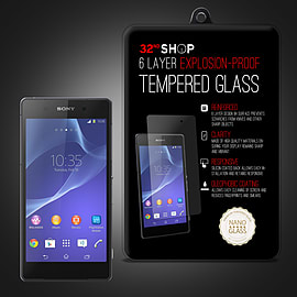Sony Xperia Z2 Extra Armoured tempered glass screen protector Mobile phones
