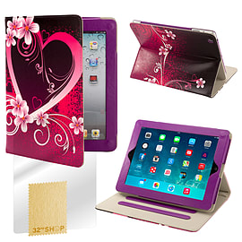 Sony Xperia Z2 Tablet PU leather design book case - Love Heart Mobile phones