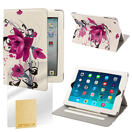 Sony Xperia Z2 Tablet PU leather design book case - Purple Rose Mobile phones